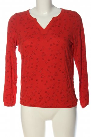 Esprit V-Neck Shirt red allover print casual look