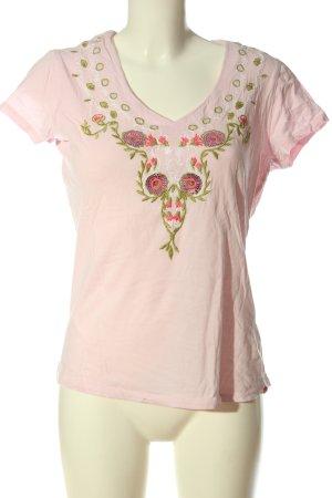Esprit V-Ausschnitt-Shirt mehrfarbig Casual-Look