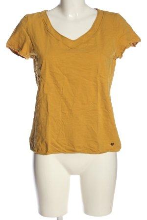 Esprit Koszulka z dekoltem w kształcie litery V jasny pomarańczowy Melanżowy