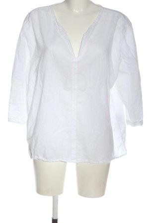Esprit V-Ausschnitt-Shirt weiß Business-Look