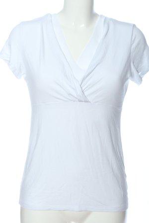 Esprit Maglia con scollo a V bianco stile casual