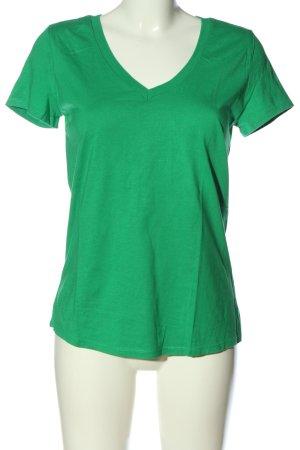 Esprit V-Ausschnitt-Shirt grün Casual-Look