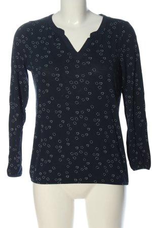 Esprit V-Neck Shirt black graphic pattern casual look