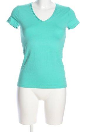Esprit V-Ausschnitt-Shirt türkis Casual-Look