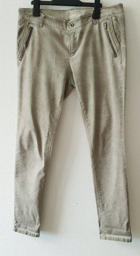 Esprit pantalón de cintura baja beige