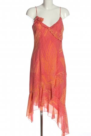 Esprit Vokuhila-Kleid rot-hellorange abstraktes Muster Elegant