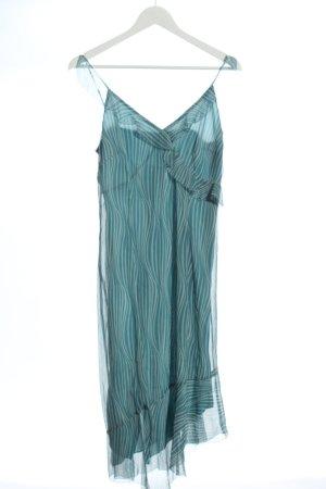Esprit Vokuhila-Kleid türkis Streifenmuster Elegant