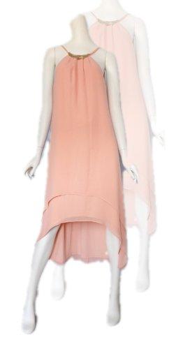Esprit Robe bas asymétrique abricot-saumon