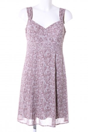 Esprit Flounce Dress lilac-white allover print casual look