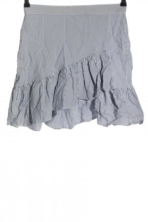 Esprit Flounce Skirt white-blue striped pattern casual look