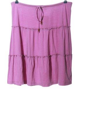 Esprit Volanten rok lila gestippeld casual uitstraling