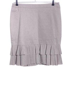 Esprit Falda con volantes gris claro Patrón de tejido estilo «business»