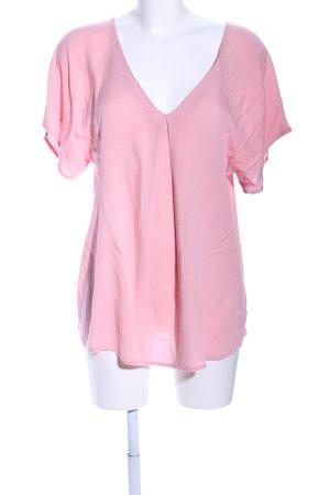 Esprit Camisa con cuello caído rosa elegante