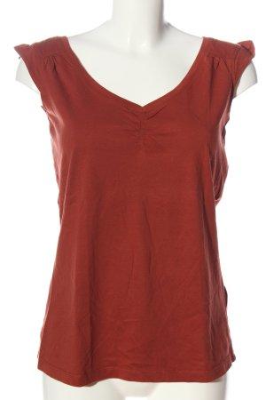 Esprit Top basic rosso stile casual