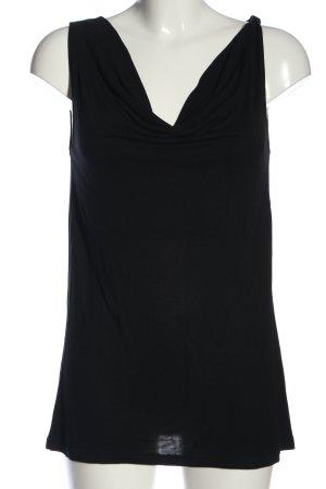 Esprit Wasserfallshirt schwarz Casual-Look