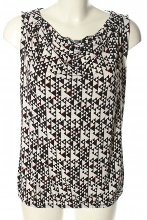 Esprit Cowl-Neck Top white-black graphic pattern casual look