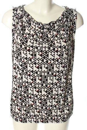Esprit Watervaltop wit-zwart grafisch patroon casual uitstraling