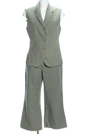 Esprit Web Twin Set khaki-weiß Streifenmuster Casual-Look