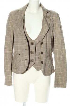 Esprit Woven Twin Set brown-natural white allover print business style
