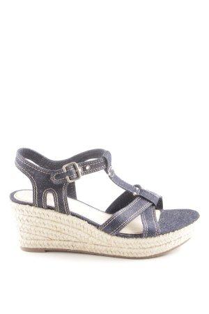 Esprit Wedges Sandaletten blau Casual-Look