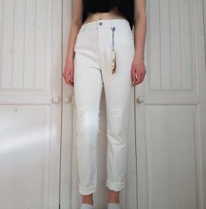 Esprit weiß Jeans Hose risse Boyfriendjeans Boyfriend Girlfriendjeans Girlfriend Ripped Disstressed Plunderhose Pants