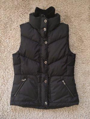 Esprit Gewatteerd vest zwart