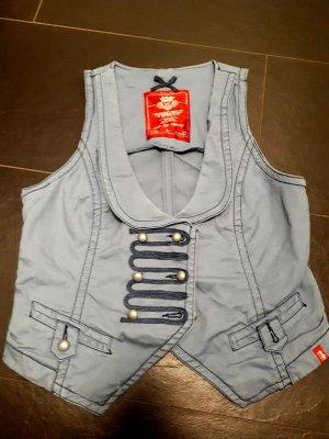 edc by Esprit Smanicato jeans blu pallido-grigio ardesia Cotone