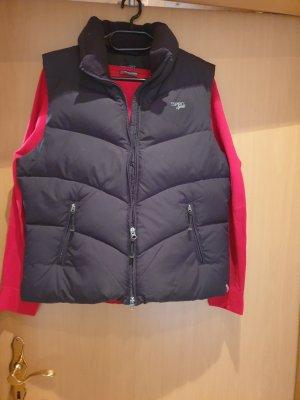 Esprit Sports Chaleco de plumón negro tejido mezclado