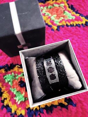 Esprit Wickel Armbanduhr mit Muster und Strass