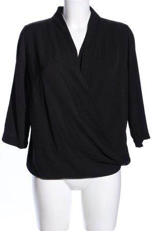 Esprit Wikkelblouse zwart casual uitstraling