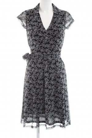 Esprit Robe portefeuille noir-gris clair imprimé allover élégant