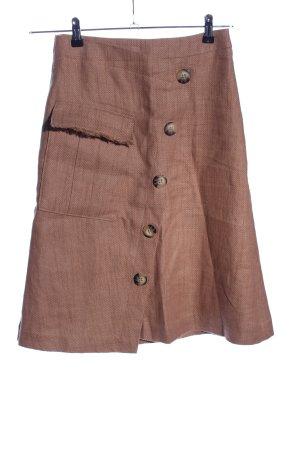 Esprit Falda cruzada marrón estilo sencillo