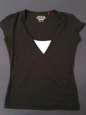 ESPRIT Wickelshirt T-Shirt, Gr. M, NEUWERTIG