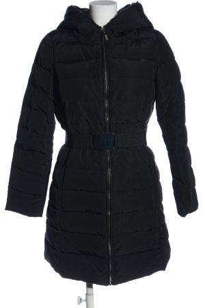 Esprit Winterjacke schwarz Steppmuster Casual-Look