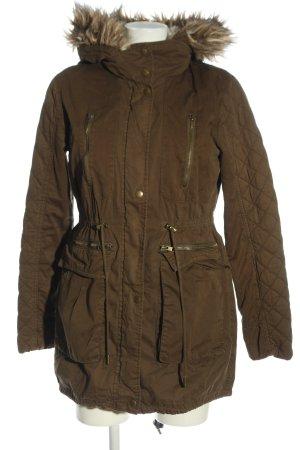 Esprit Kurtka zimowa brązowy Pikowany wzór W stylu casual