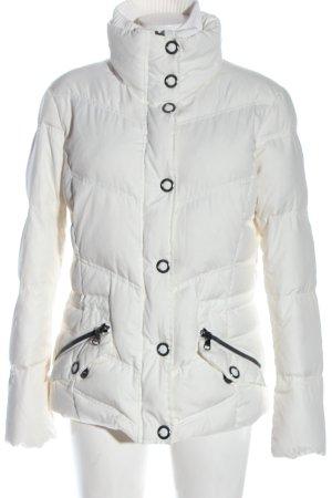 Esprit Kurtka zimowa biały Pikowany wzór W stylu casual