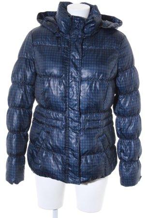 Esprit Winterjacke dunkelblau-schwarz Karomuster Casual-Look