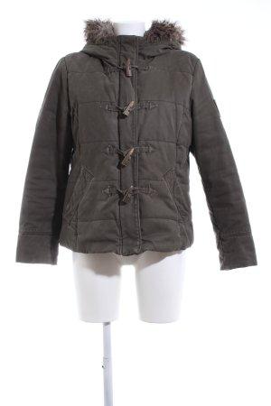 Esprit Kurtka zimowa khaki Pikowany wzór W stylu casual