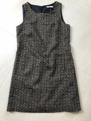 Esprit Vestido de lana marrón grisáceo-taupe tejido mezclado