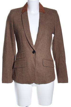 Esprit Wool Blazer brown allover print business style