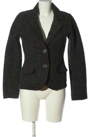 Esprit Blazer en laine gris clair-noir moucheté style d'affaires