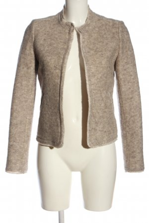 Esprit Blazer en laine crème Motif de tissage style décontracté
