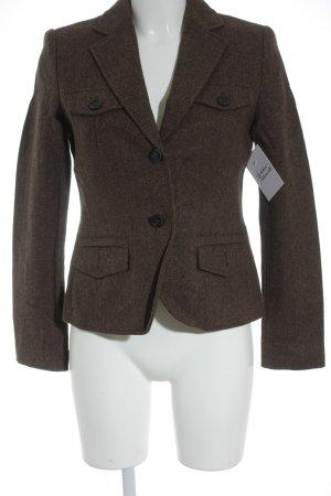 Esprit Blazer en laine marron clair motif à chevrons style anglais