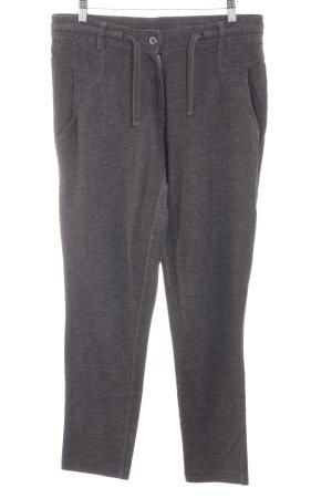 Esprit Pantalone di lana grigio chiaro puntinato stile casual