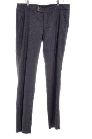 Esprit Pantalone di lana blu scuro-marrone chiaro puntinato stile casual