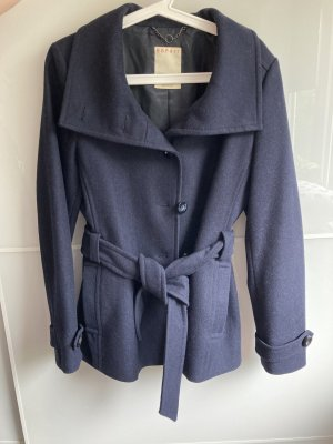 Esprit Veste en laine bleu foncé