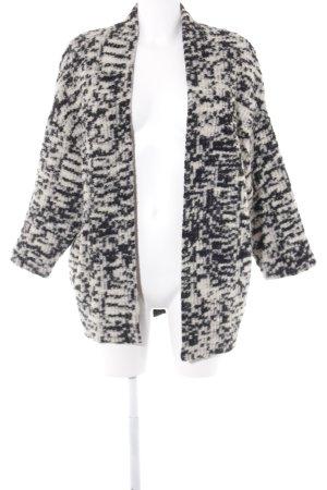 Esprit Wolljacke schwarz-hellbeige abstraktes Muster Casual-Look