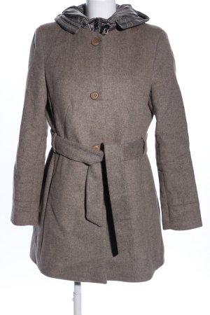 Esprit Wollen jas bruin gestippeld casual uitstraling