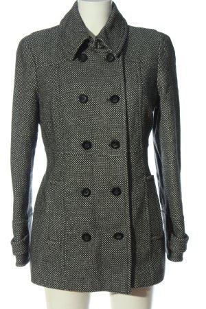 Esprit Wollmantel schwarz-weiß Casual-Look