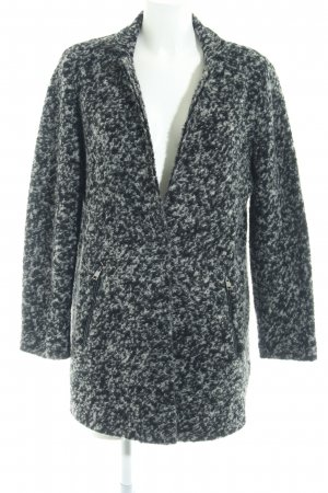 Esprit Wollmantel schwarz-grau meliert Casual-Look